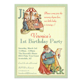 Nursery Rhyme Invitation - Miss Muffet on back