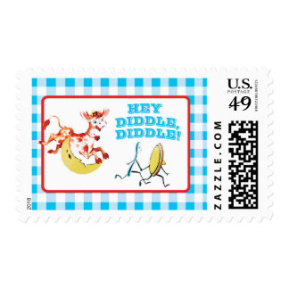 Nursery Rhyme invitations matching stamps