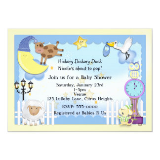 Nursery Rhyme Lullaby Baby Shower Invitations