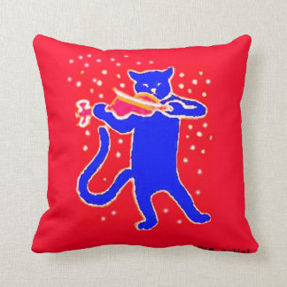 Nursery Rhyme Pillow - Cat n fiddle Red and Blue A