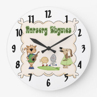 Nursery Rhymes Cow & Fiddle Kids Clock