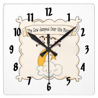 Nursery Rhymes Cow Moon Kids Clock