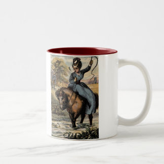 Nursery Rhymes Dapple Gray Two-Tone Coffee Mug