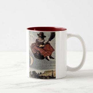 Nursery Rhymes Old Woman, Old Woman Two-Tone Coffee Mug