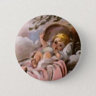 Nursery Rhymes Rockabye Baby Watercolor Pinback Button