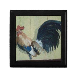 Nursery Rooster Mural Keepsake Box