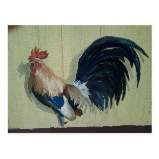 Nursery Rooster Mural Postcard