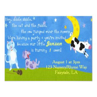 Nursery Ryme Birthday Party Card