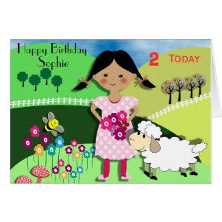 Nursery Rythm Theme Cute Kids Birthday Card