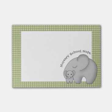 Toddler & Baby themed Nursery School and the Baby Elephant Personalized Post-it Notes