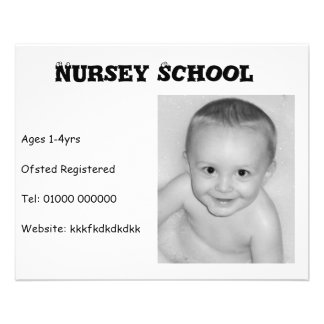 Nursery School/Nanny/Childminder Flyer