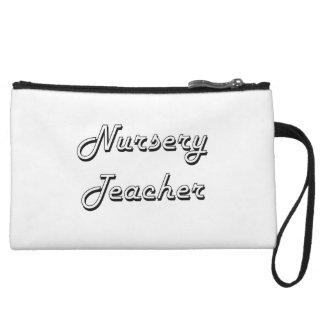 Nursery Teacher Classic Job Design Wristlets