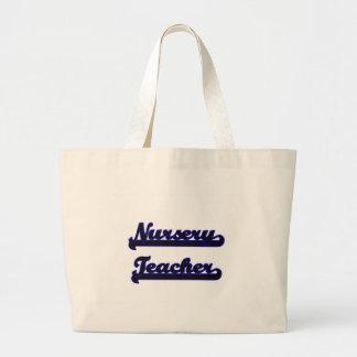Nursery Teacher Classic Job Design Jumbo Tote Bag