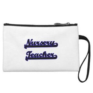 Nursery Teacher Classic Job Design Wristlet Purse