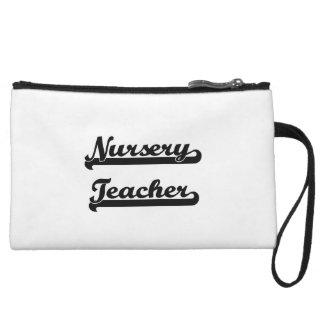 Nursery Teacher Classic Job Design Wristlet Clutches