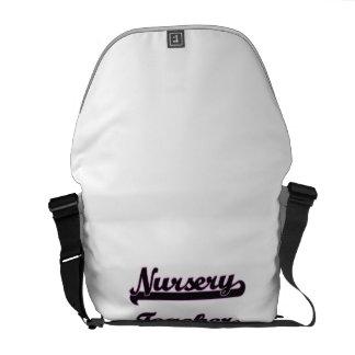 Nursery Teacher Classic Job Design Messenger Bag