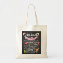 Nursery Teacher tote shopping book bag