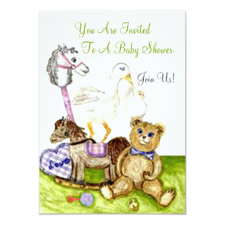 Nursery Themed Toys Baby Showe Invite