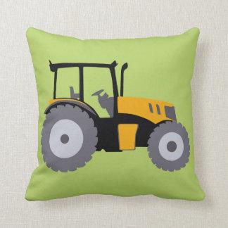 Nursery tractor illustration kids room decor throw pillow