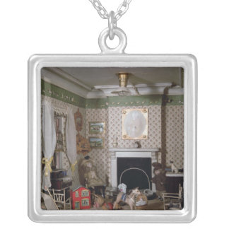 Nursery with toys from 'Miss Miles' House', 1890 Silver Plated Necklace