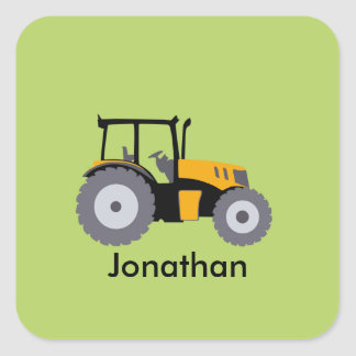 Nursery yellow tractor illustration dump truck