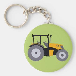 Nursery yellow tractor illustration dump truck keychain