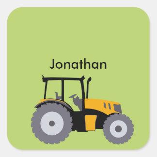 Nursery yellow tractor illustration dump truck sticker