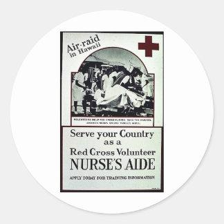 Nurse's Aide Classic Round Sticker