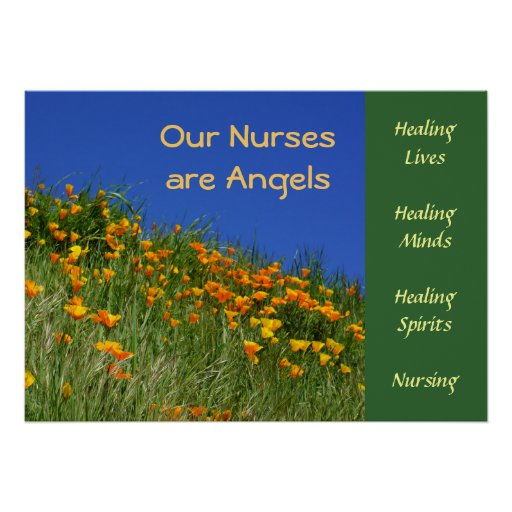 Nurses Angels posters Healing Lives Minds Spirits