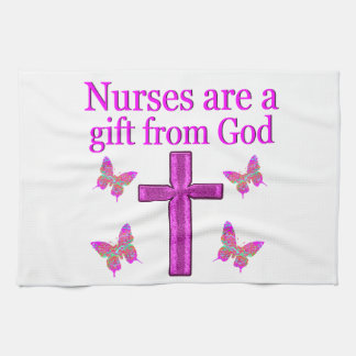 NURSES ARE A GIFT FROM GOD HAND TOWEL