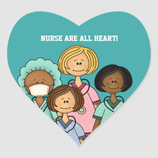 NURSES ARE ALL HEART. Gift Stickers