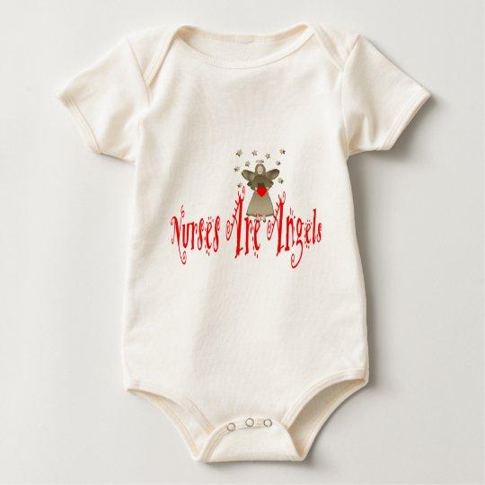 Nurses Are Angels Baby Bodysuit