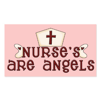 Nurse's are Angels Business Card