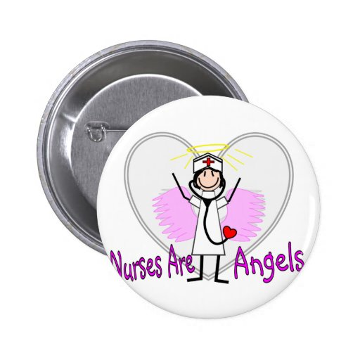 Nurses Are Angels Button
