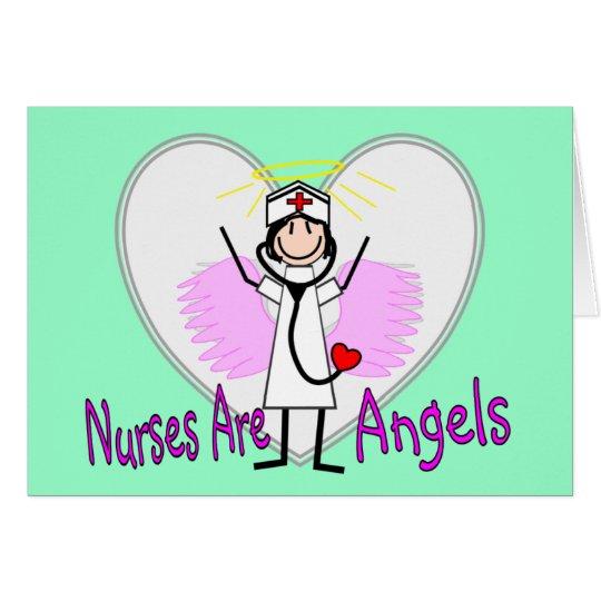 Nurses Are Angels Card