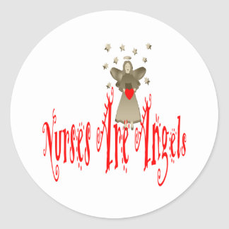 Nurses Are Angels Classic Round Sticker