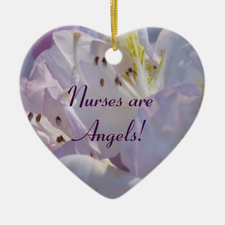Nurses are Angels! gifts hanging Heart Ornament