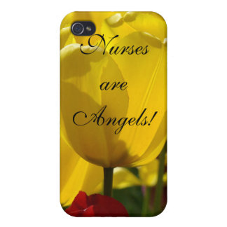Nurses are Angels! gifts iPhone cases Yellow Tulip Cases For iPhone 4