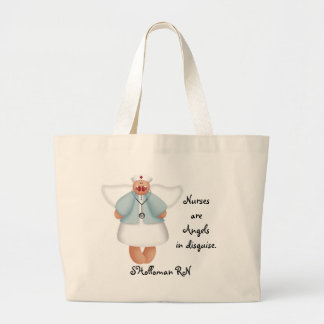 Nurses are Angels in disguise Large Tote Bag