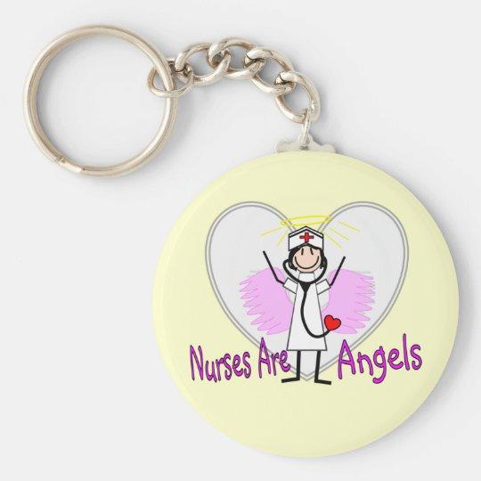 Nurses Are Angels Keychain