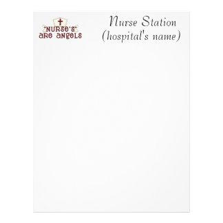 Nurse's Are Angels Letterhead