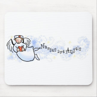Nurses Are Angels Mouse Pad