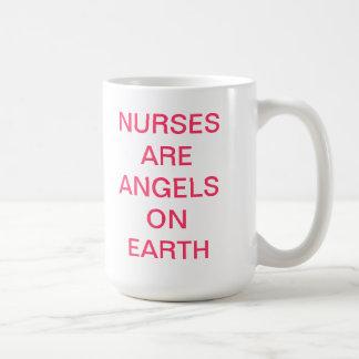 NURSES ARE ANGELS ON EARTH MUGS