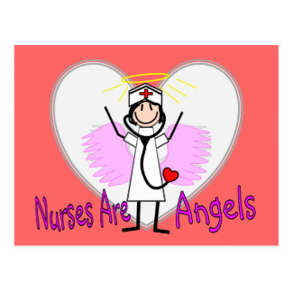 Nurses Are Angels Postcard