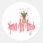 Nurses Are Angels Round Sticker