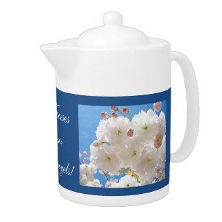 Nurses are Angels tea pots Fluffy Blossom Flowers Teapot