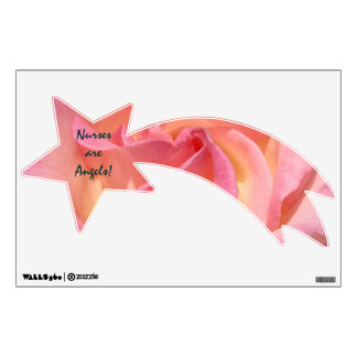 Nurses are Angels wall decals Pink Rose Nursing