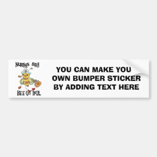 Nurses Are Bee-utiful T-shirts and Gifts Car Bumper Sticker