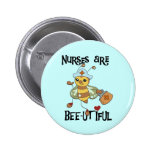Nurses Are Bee-utiful T-shirts and Gifts 2 Inch Round Button