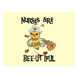 Nurses Are Bee-utiful T-shirts and Gifts Post Card